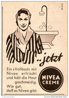 Original-Werbung/ Anzeige 1956 - NIVEA CREME - ca. 60 x 80 mm