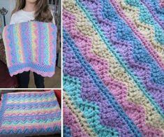 Crochet Rainbow Blanket Free Pattern
