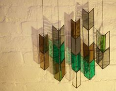 Stained Glass Elements Chevron Arrows by BespokeGlassTile