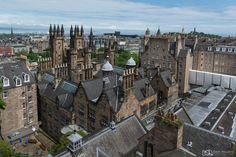 View over Edinburgh taken from Camera Obscura and World of Illusions.