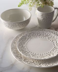 Get free shipping on 16-Piece Scroll Dinnerware Service at Neiman Marcus. Shop the latest luxury fashions from top designers.