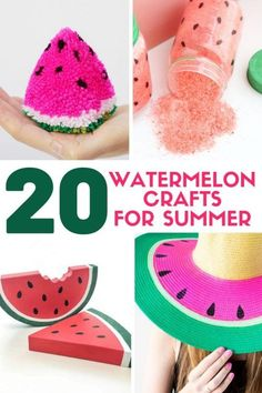 Watermelon is what summer is all about and these Watermelon Craft Ideas are the perfect way to celebrate! Enjoy these Creative watermelon project tutorials.   #watermeloncrafts #craftsforsummer #artsandcrafts #easycraft