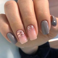 More than 100 fashionable nail designs, there is always something you like. - Page 5 of 135 - Inspiration Diary Gelish Nail Colours, Gelish Nails, My Nails, Pink Nails, French Nails, Acrylic Nail Designs, Acrylic Nails, Cute Nails, Pretty Nails