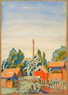 Waning Moon,-1916 Charles Burchfield
