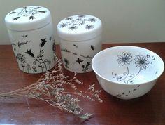 Ilustração.  Porcelanas.  Personalizados. Coisas da Bubu. Mariangela Souza