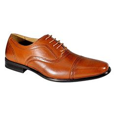 Delli Aldo Men's M-19006 Brown Wing Tip Lace Up Leather Lining Oxford Dress Shoes 7.5