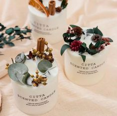 Scented Pillar Candles, Cheap Candles, Unique Candles, Soy Wax Candles, Christmas Candle Decorations, Christmas Candles, Romantic Candles, Natural Candles, Marble Candle