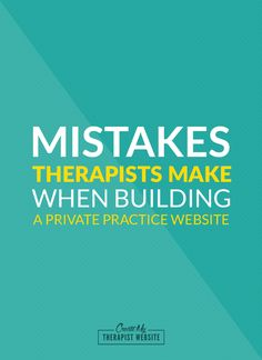 Jump start your therapy website with this FREE video training series. I'll show you the mistakes some therapists make when building their own private practice websites and how to avoid them, along with some other tips and tools to get your website started. If you're a therapist and have been putting off starting your website or have been overwhelmed by the challenge, this is for you. Click to get video #1: http://www.createmytherapistwebsite.com/videoseries