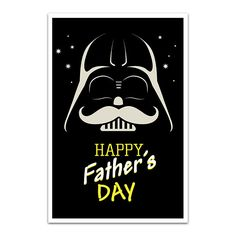 Father's Day Card  Darth Vader. Card Simple Happy by SollaDesign,