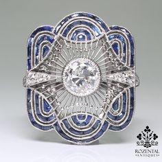 platinum 1.33 carat deco ring $8,200 on 8/15