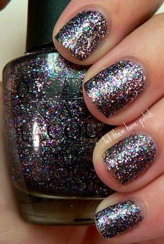 """OPI """"Mad as a Hatter""""- the most amazing glitter ever.  I'm still so mad I only have a tiny bottle that I'm running low on of this.  No other polish has come close to the perfection of this one.  Too bad they sell it so much on Ebay and Amazon."""