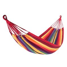 Kingcamp Brazilian Single Canvas Weaved Hammock  Compact Heavyduty Polycotton Super Comfort and Durability ** For more information, visit image link.(This is an Amazon affiliate link and I receive a commission for the sales)