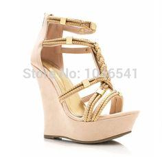 74.70$  Buy here - http://ali18f.worldwells.pw/go.php?t=32262600988 - 2015 Sexy Sandals Open Toe Sandalias Gladiator Sandals Women Platform Shoes Sandalias Femininas Salto Alto Platform Wedges 74.70$