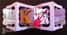 An accordion card made for Kevin