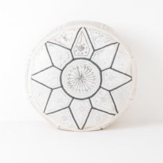 Buy Fez Moroccan Pouffe or Pouf, Grey in our India May Home Pouffes and Drums category £100.00 DPD Next Day Delivery