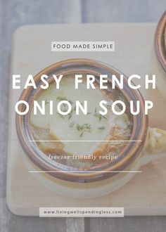 When the weather is cold nothing quite hits the spot like a bowl of steaming hot, flavor-packed soup!  This ridiculously easy French Onion Soup comes together fast, then goes straight from the freezer to the slow cooker for an effortless meal that still feels extra special.  via @lwsl