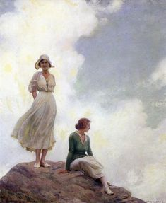 Charles Courtney Curran (1861 – 1942) The Boulder