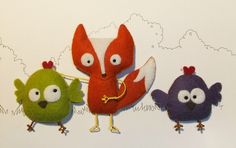 Guido et ses poules So cute! Fox & Chickens!