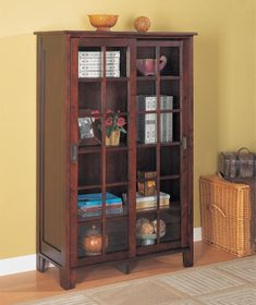 Pioneer closed bookcase with glass doors