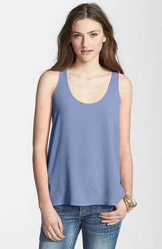 Frenchi® Woven Swing Tank (Juniors) available at #Nordstrom