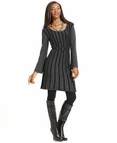 Grey & Black Dress