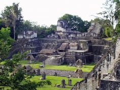 The ancient Mayan city of Tikal, located in present-day Guatemala