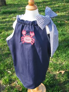 Crab applique and Pillowcase Dress by HipHopLadyBug