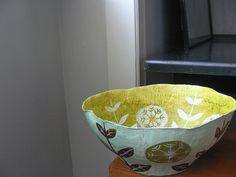 Papier mache bowl