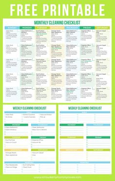 Free Printable Cleaning Schedule to help you maintain a clean home!: Free Printable Cleaning Schedule to help you maintain a clean home! House Cleaning Tips, Diy Cleaning Products, Cleaning Solutions, Cleaning Hacks, Cleaning Check Lists, Cleaning Rota, Weekly Cleaning Checklist, Home Cleaning Schedule Printable, Household Cleaning Schedule