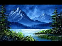 Blue Mountain Lake 1 (4x6) / Small and Simple Oil Painting Sketch - YouTube