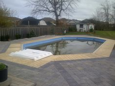 Onground pool deck and patio