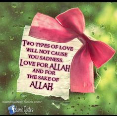 Two types of love. Allah Love, Islamic Love Quotes, Life Quotes, Sad, Messages, Deen, Religion, Spirituality, Faith