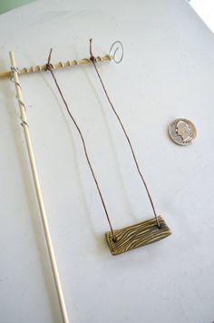 Miniature Garden Swing for Fairies