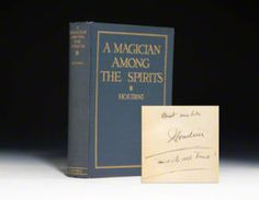 "#HarryHoudini #Houdini #Magic ##Psychic #Parapsychology Houdini challenged any #astrologer #ghost hunter #medium to prove they were for real. His book, ""A Magician Among The Spirits"" tells what happened next!  #science"