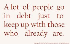 A Lot Of People Go In Debt