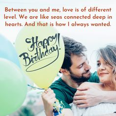 Between you and me, love is of different level. We are like seas connected deep in hearts. And that is how I always wanted. Birthday Wishes For Wife, Happy Birthday, Romantic Quotes, Seas, You And I, Connection, Messages, Love, Happy Brithday