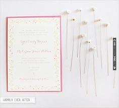 hello!lucky wedding invite | VIA #WEDDINGPINS.NET