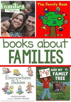 Pre-K books to read. Best Family Pre-K and Kindergarten books. Family theme books for your preschool, pre-k, or kindergarten classroom. A list of books about families and family members - perfect for a family theme. Preschool Family Theme, All About Me Preschool Theme, Preschool Literacy, Preschool Books, Preschool Themes, Book Activities, Indoor Activities, Summer Activities, Teaching Resources