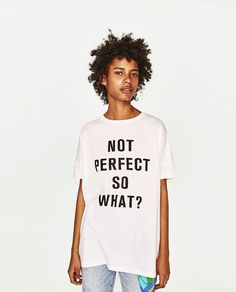Image 2 of OVERSIZED TEXT T-SHIRT from Zara