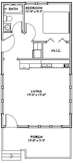 14x30 Tiny House 14x30h1a 419 Sq Ft Excellent
