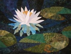 Ruth McDowell Waterlily   Make sure you trace onto the shiny side of the freezer paper, otherwise you may end up with your quilt in mirror image by mistake.