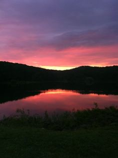 Amazing place!  Makes me think of camp outs and long runs. Rising sun Reservoir at Black Rock Cornwall NY
