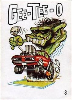 Odd Rods (Base Set) Trading Card by Donruss in Grid View Ed Roth Art, Cartoon Rat, Cool Car Drawings, Cartoons Magazine, Rockabilly, Monster Car, Dc Comics, Rat Fink, Garage Art