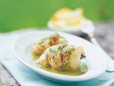 Involtini di pesce con crema di limone e basilico - Ricetta - Cucina di stagione