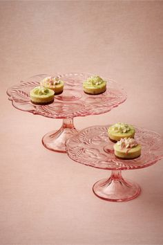 These look just like the cake stands I had with a tea party set for a doll I had as a little girl!