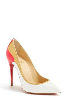 Christian Louboutin 'Tucsick' Glitter Pointy Toe Pump... Never loved a pair of shoes more!!  Want!!