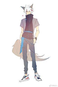 Fantasy Art Men, Cool Anime Guys, Manga Boy, Character Design Inspiration, Furry Art, Game Character, Fantasy Characters, Drawing Reference, Akira