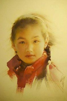 Liu Yi, watercolor.