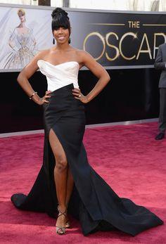 2013 Oscars Red Carpet - Kelly Rowland in Donna Karan Atelier