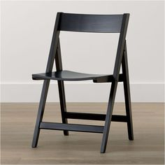 Designer Mark Daniel& rubberwood chair with black lacquer finish is designed to fold for easy storage. The Spare Black Folding Dining Chair is a Crate and Barrel exclusive. Metal Dining Room Chairs, Folding Dining Chairs, Fold Up Chairs, Folding Furniture, Kids Table And Chairs, Kitchen Chairs, Folding Chair, Dining Furniture, Custom Furniture